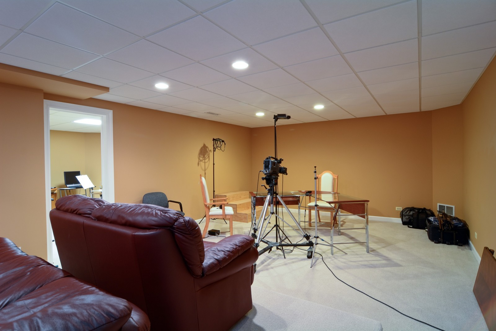 Real Estate Photography - 100 Covington, Oak Brook, IL, 60523 - Media Room