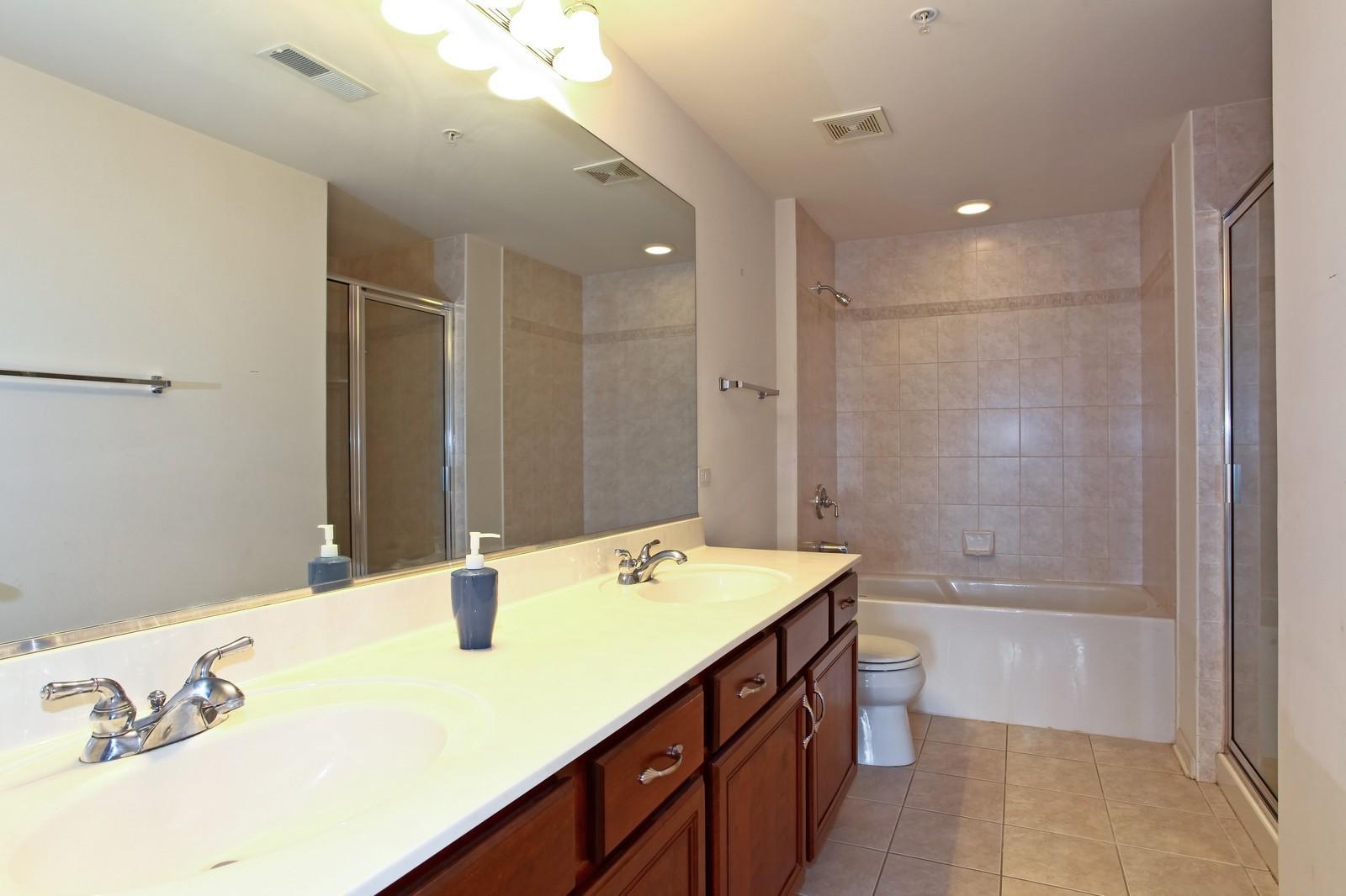 Real Estate Photography - 570 Crescent Blvd., 301, Glen Ellyn, IL, 60137 - Master Bathroom