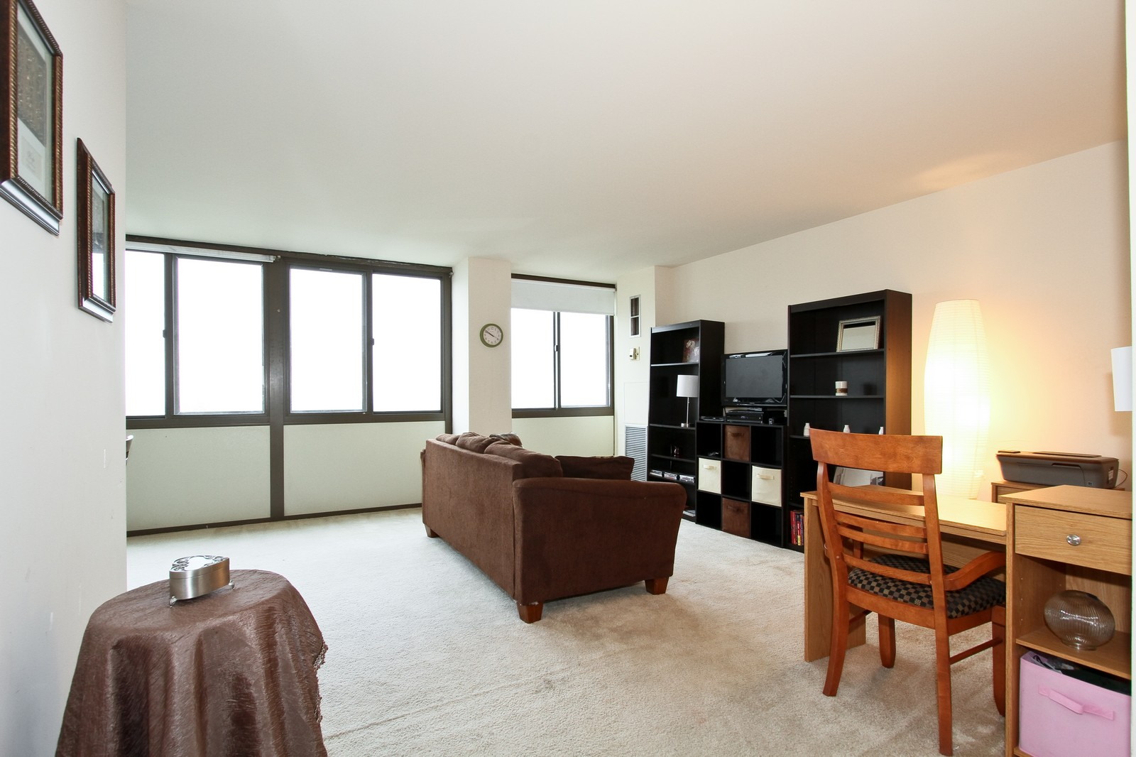Real Estate Photography - 4800 S Lake Park Ave, Unit 2212, Chicago, IL, 60615 - Living Room