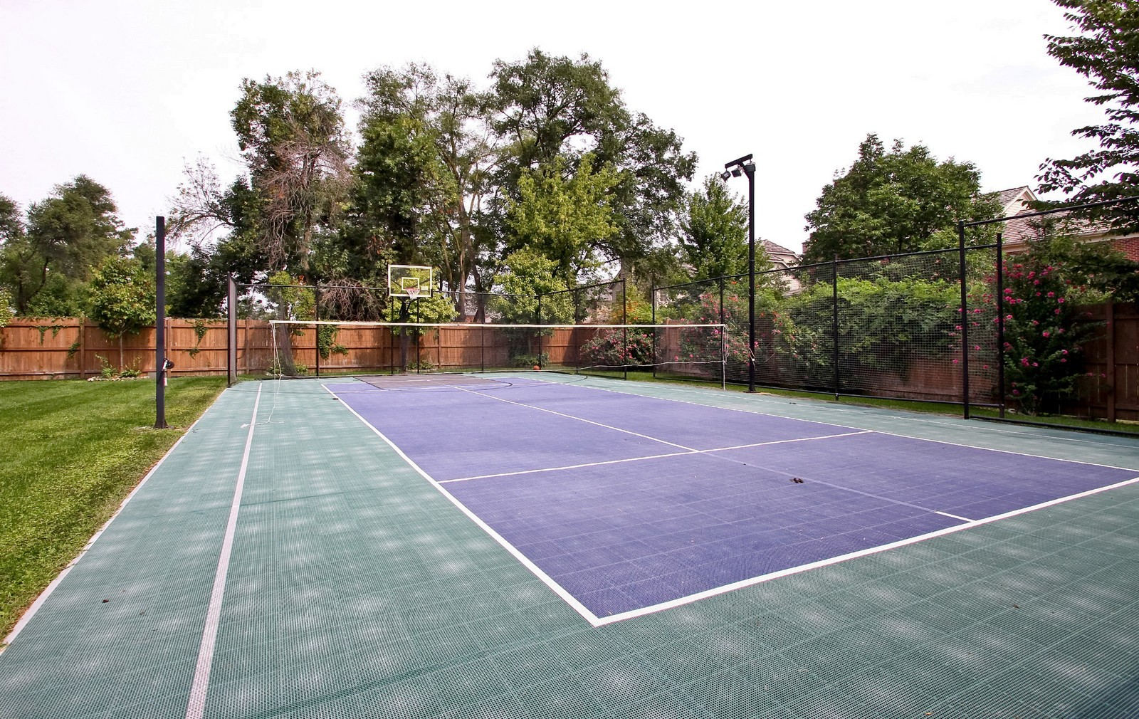 Real Estate Photography - 1641 Pickwick Lane, Glenview, IL, 60026 - Tennis Court