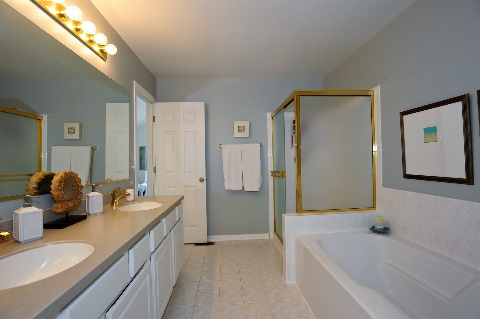 Real Estate Photography - 501 Citadel Circle, Westmont, IL, 60559 - Master Bathroom