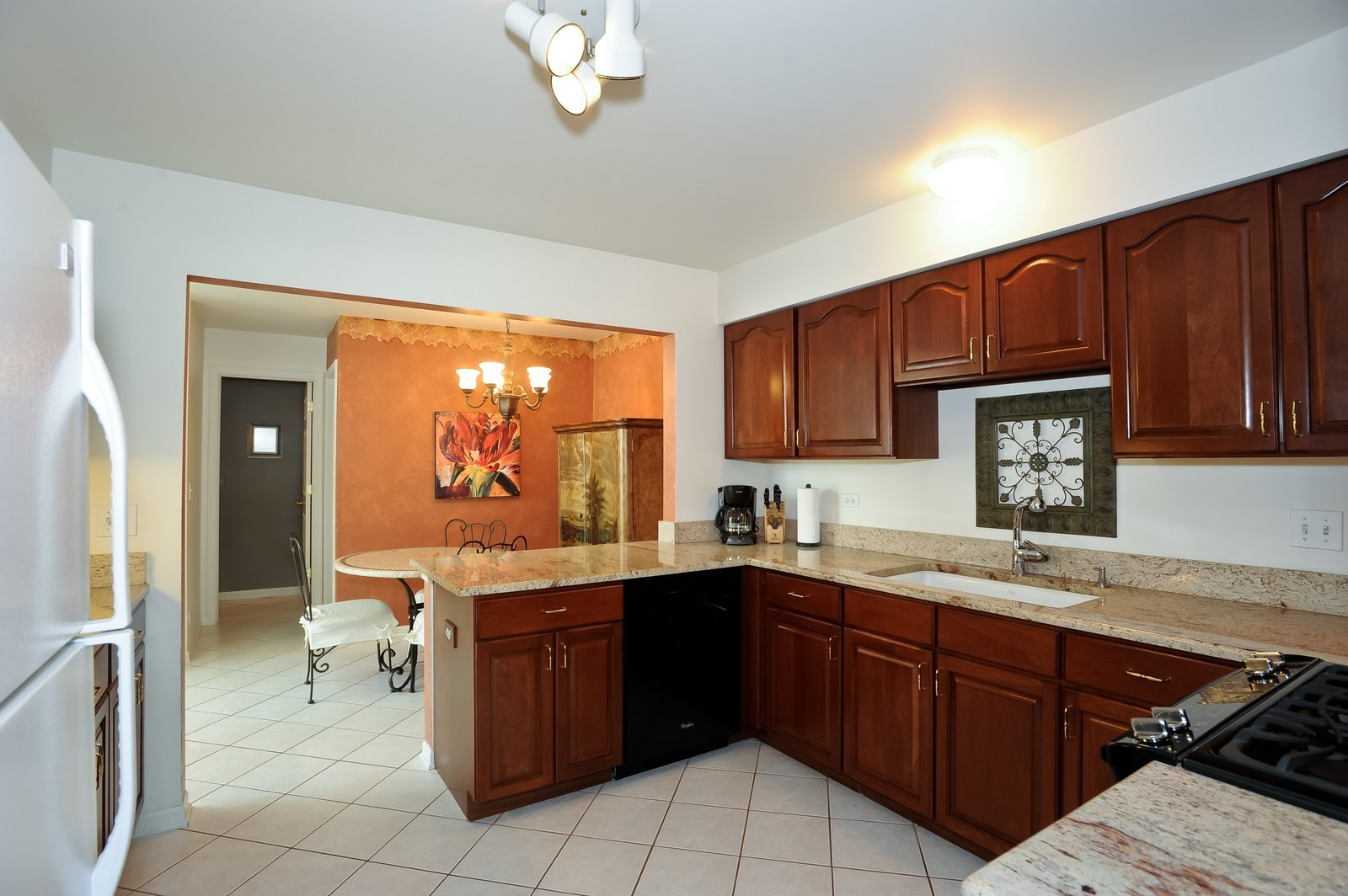 Real Estate Photography - 501 Citadel Circle, Westmont, IL, 60559 - Kitchen to Breakfast Room