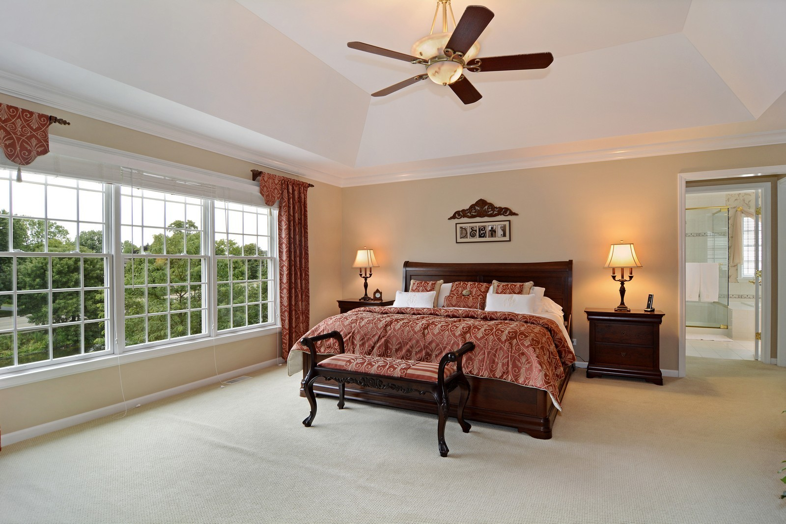 Real Estate Photography - 417 Kristin St, Westmont, IL, 60559 - Master Bedroom