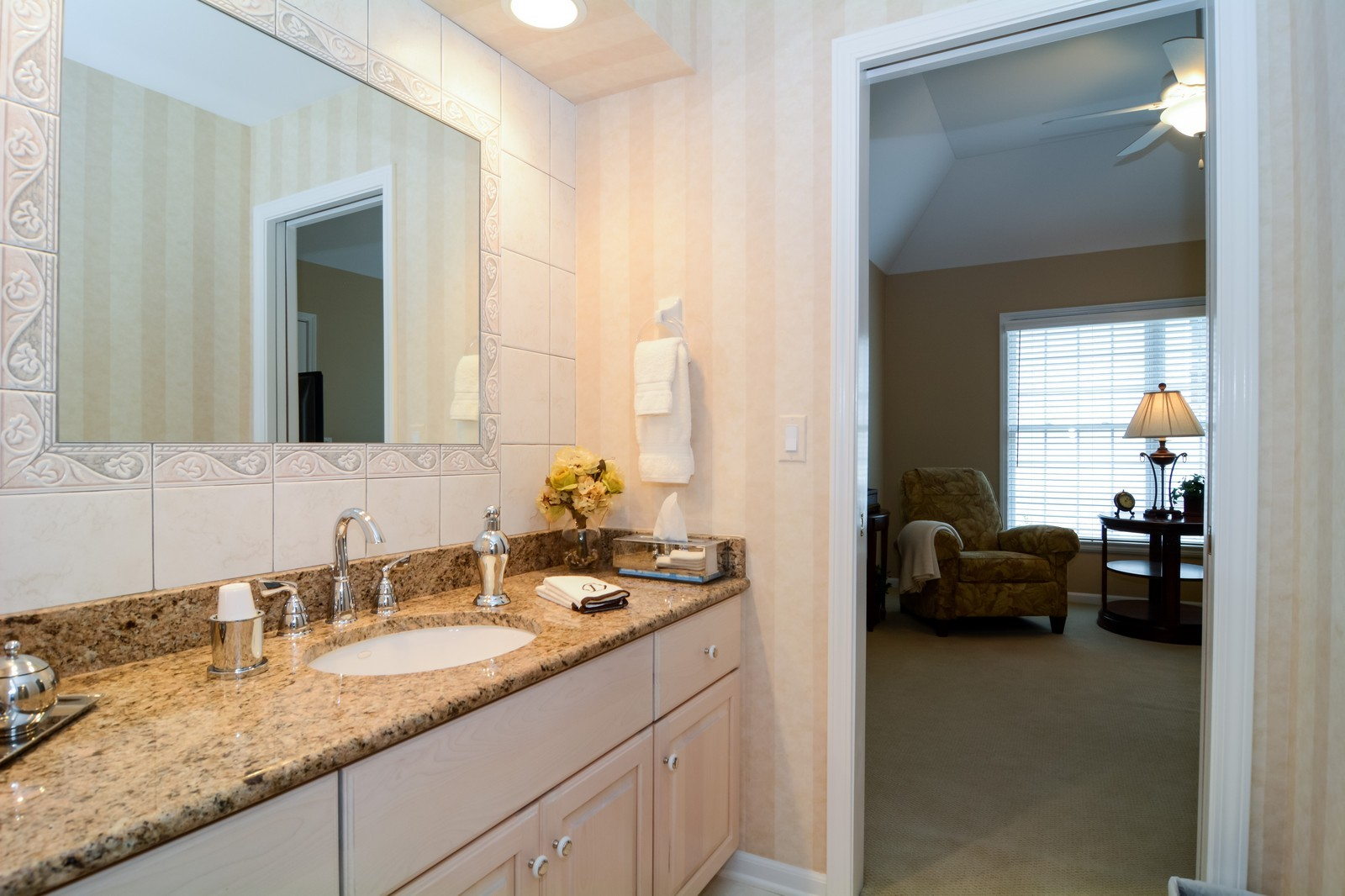 Real Estate Photography - 417 Kristin St, Westmont, IL, 60559 - 2nd Bathroom