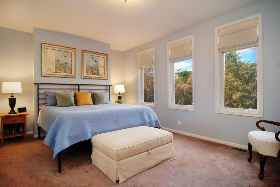 Real Estate Photography - 1351 W Altgeld, Unit 2K, Chicago, IL, 60614 - Master Bedroom