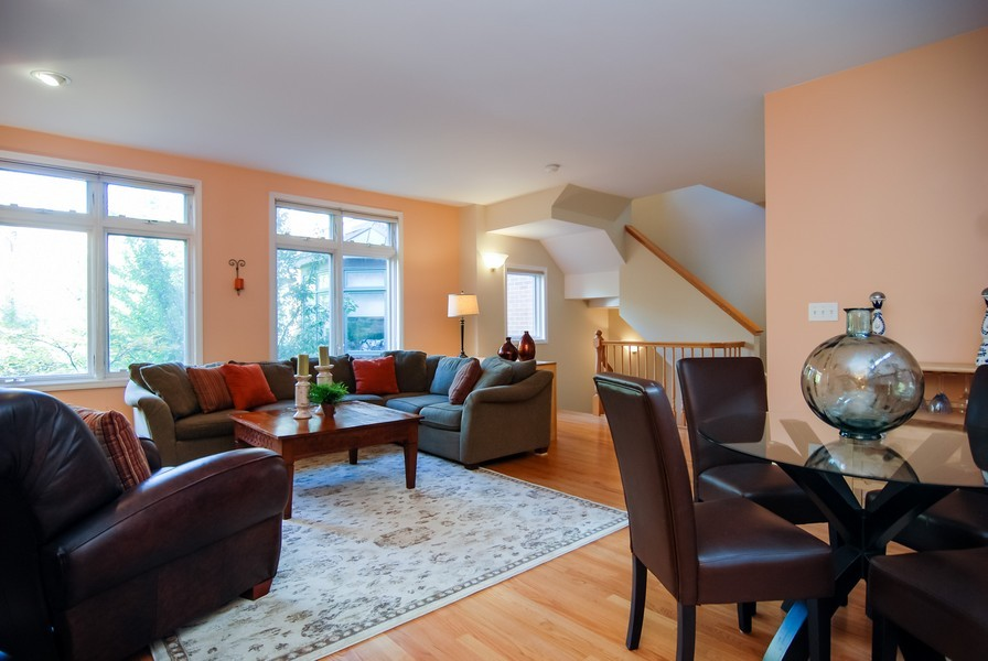 Real Estate Photography - 1351 W Altgeld, Unit 2K, Chicago, IL, 60614 - Living Room/Dining Room