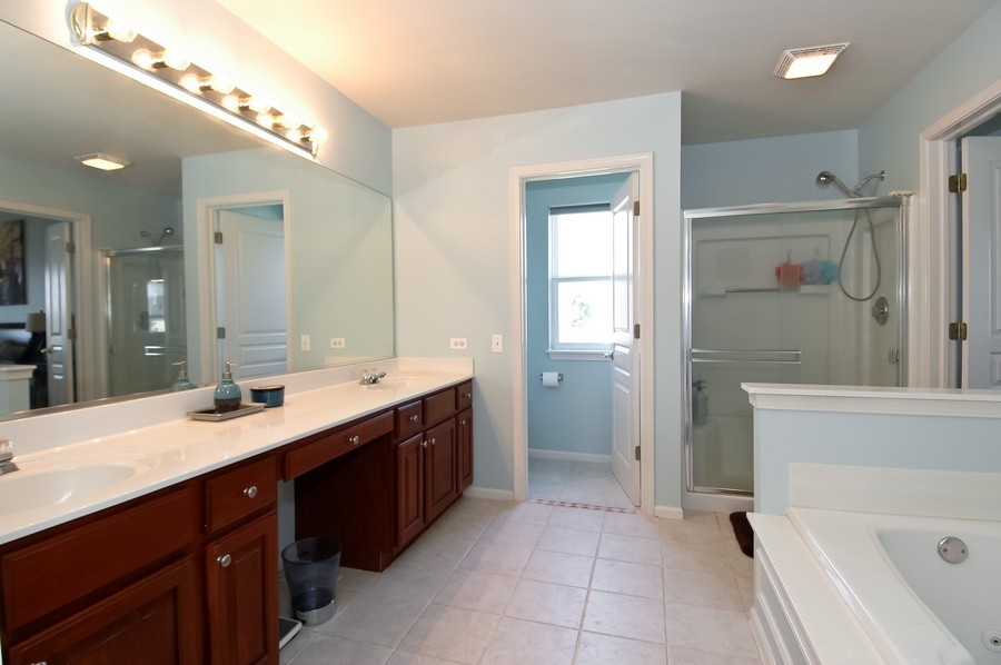 Real Estate Photography - 4370 Whitehall Ln, Algonoquin, IL, 60102 - Master Bathroom