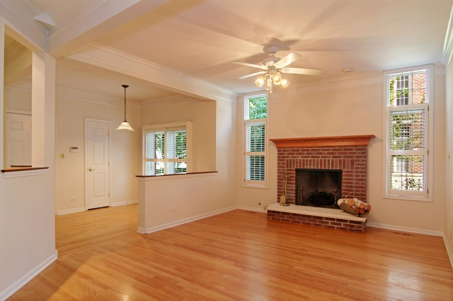 Real Estate Photography - 414 Park Ave, Clarendon Hills, IL, 60514 - Family Room / Dining Room