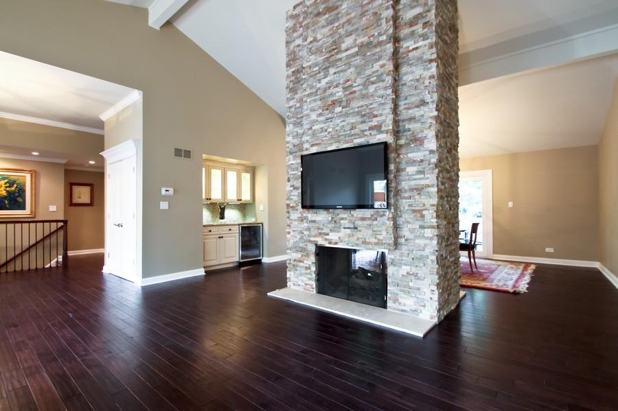 Real Estate Photography - 50 Briarwood Lane, Oak Brook, IL, 60523 - Bar /Living Room