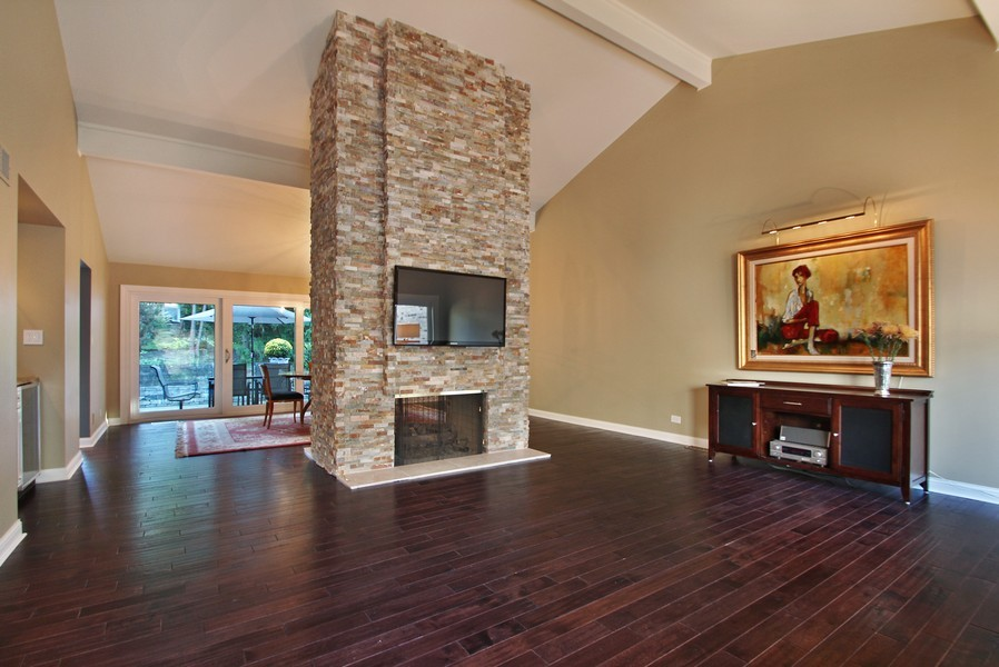 Real Estate Photography - 50 Briarwood Lane, Oak Brook, IL, 60523 - Living Room