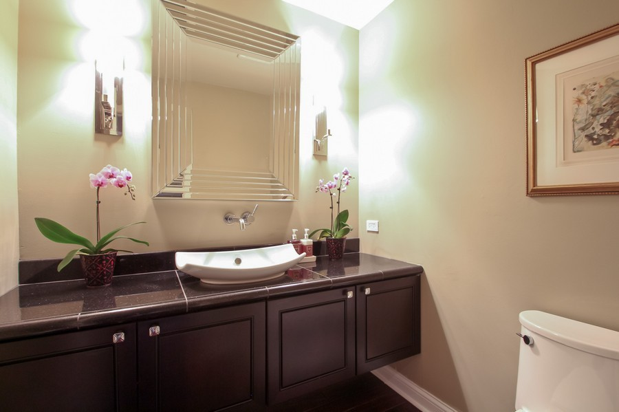 Real Estate Photography - 50 Briarwood Lane, Oak Brook, IL, 60523 - Powder Room