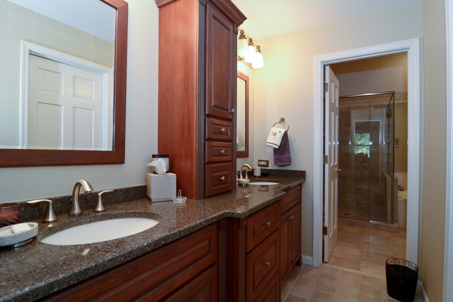 Real Estate Photography - 866 Seminary Cir, Glen Ellyn, IL, 60137 - Master Bathroom