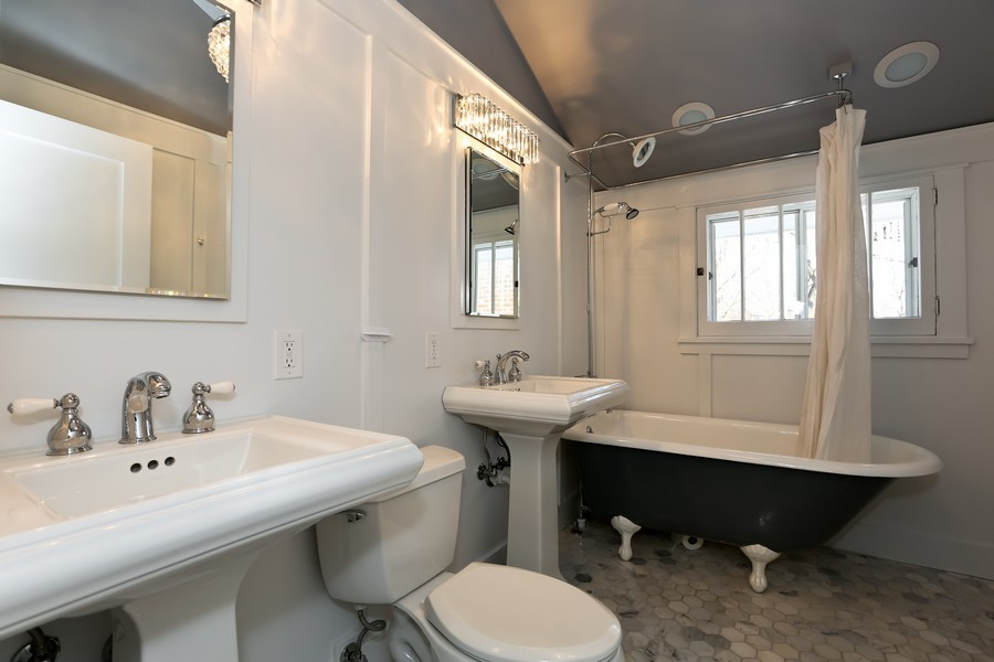 Real Estate Photography - 467 Carleton, Glen Ellyn, IL, 60137 - Bathroom