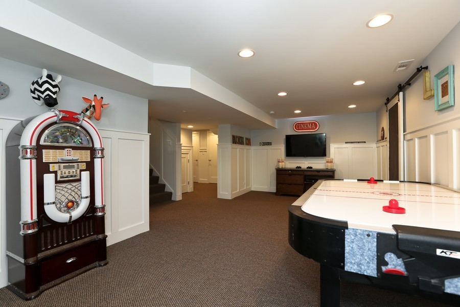 Real Estate Photography - 467 Carleton, Glen Ellyn, IL, 60137 - Play / Recreational Room