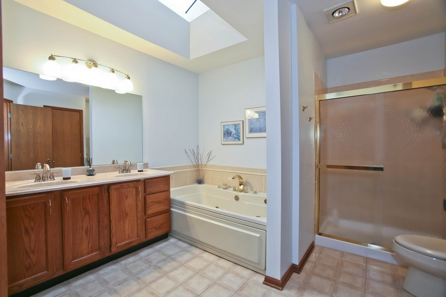 Real Estate Photography - 5828 Plymouth St, Downers Grove, IL, 60516 - Master Bathroom