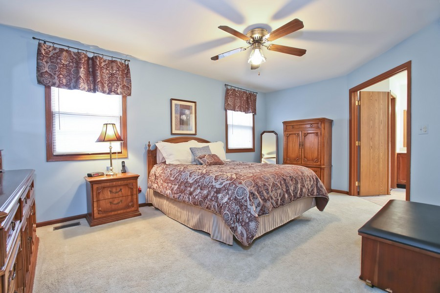Real Estate Photography - 5828 Plymouth St, Downers Grove, IL, 60516 - Master Bedroom