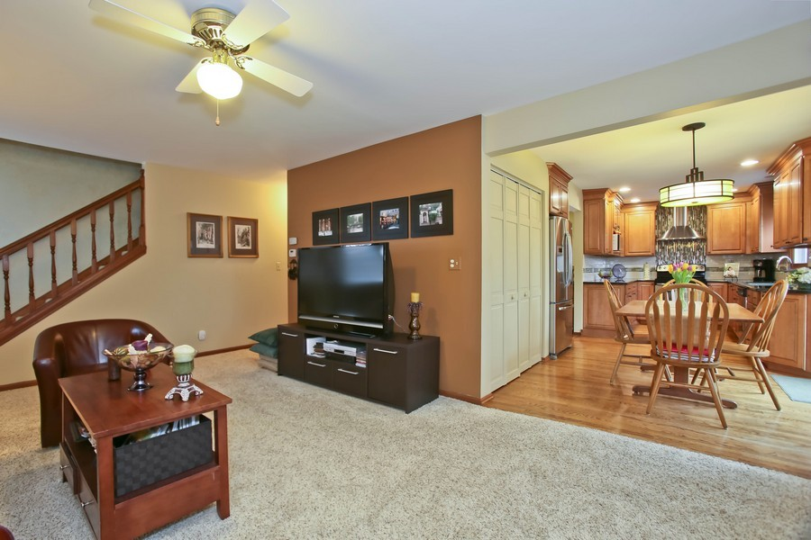 Real Estate Photography - 5828 Plymouth St, Downers Grove, IL, 60516 - Family Room / Kitchen