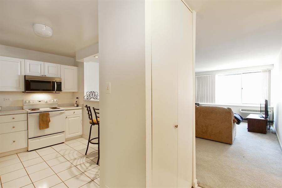 Real Estate Photography - 211 E Ohio, Unit #2308, Chicago, IL, 60654 - Kitchen / Living Room