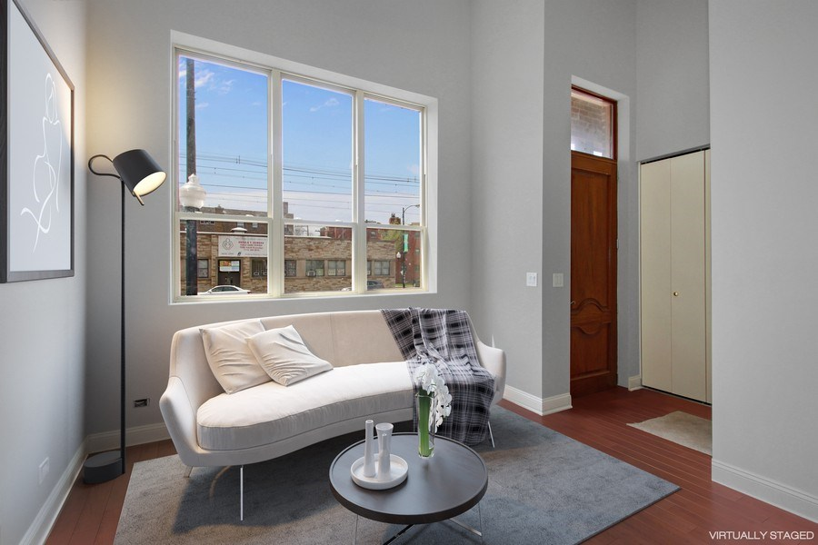 Real Estate Photography - 7227 S Exchange, Unit a, Chicago, IL, 60649 - Living Room