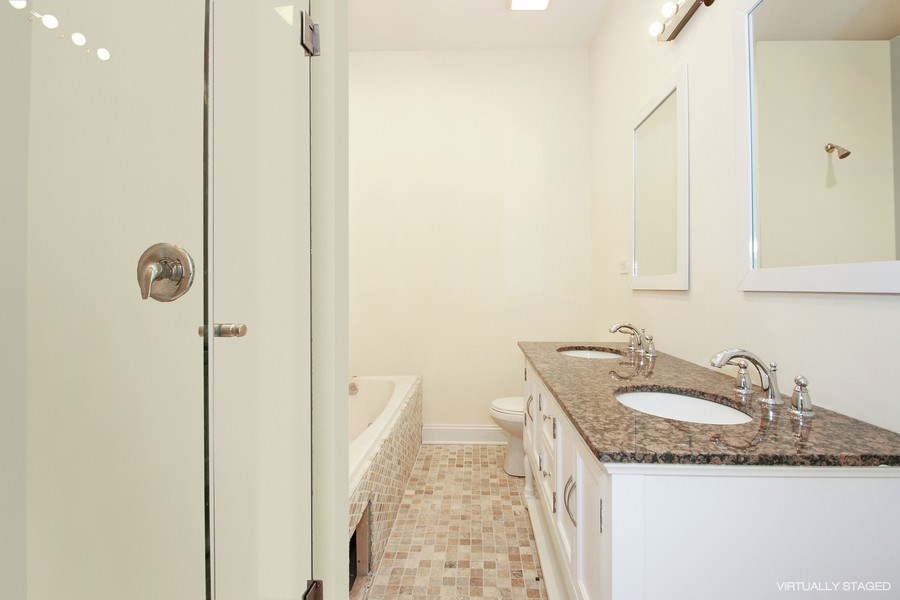 Real Estate Photography - 7227 S Exchange, Unit a, Chicago, IL, 60649 - Master Bathroom