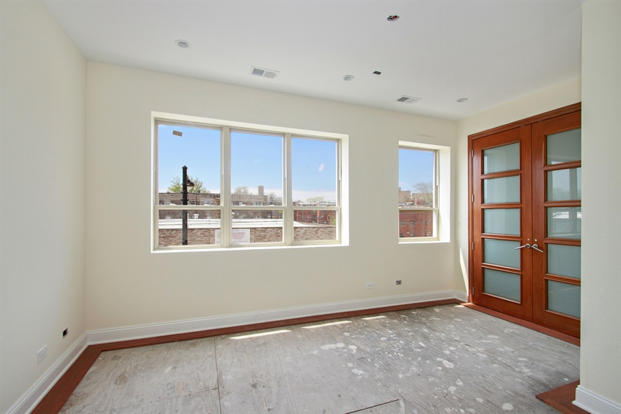 Real Estate Photography - 7227 S Exchange, Unit a, Chicago, IL, 60649 - Bedroom