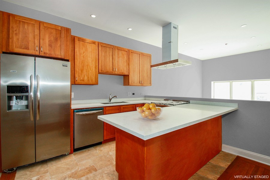Real Estate Photography - 7227 S Exchange, Unit a, Chicago, IL, 60649 - Kitchen / Breakfast Room