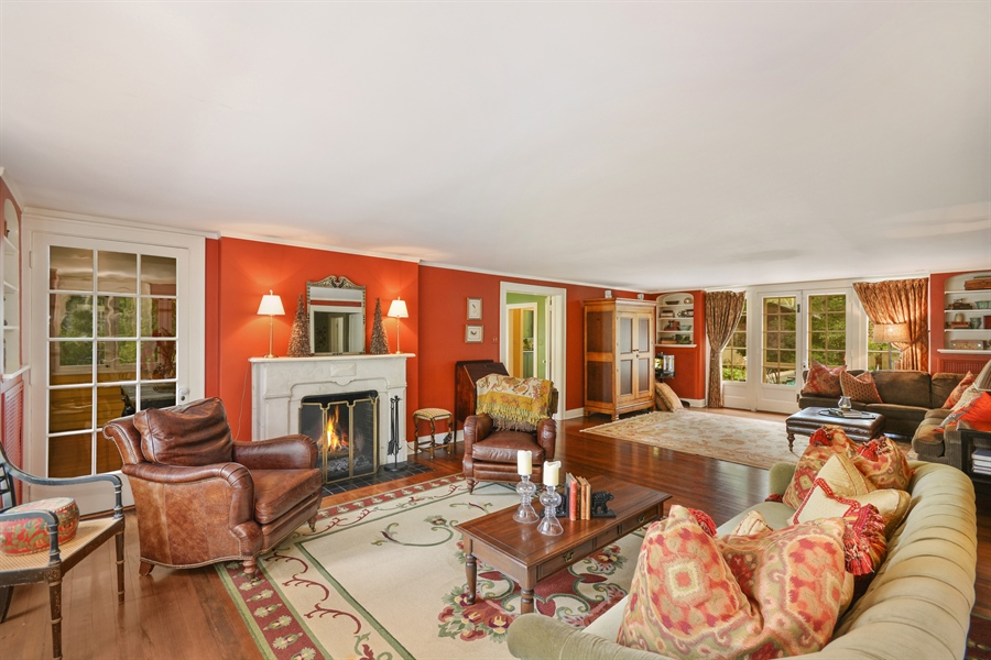 Real Estate Photography - 525 Fulton, Geneva, IL, 60134 - Living Rm/Family Rm