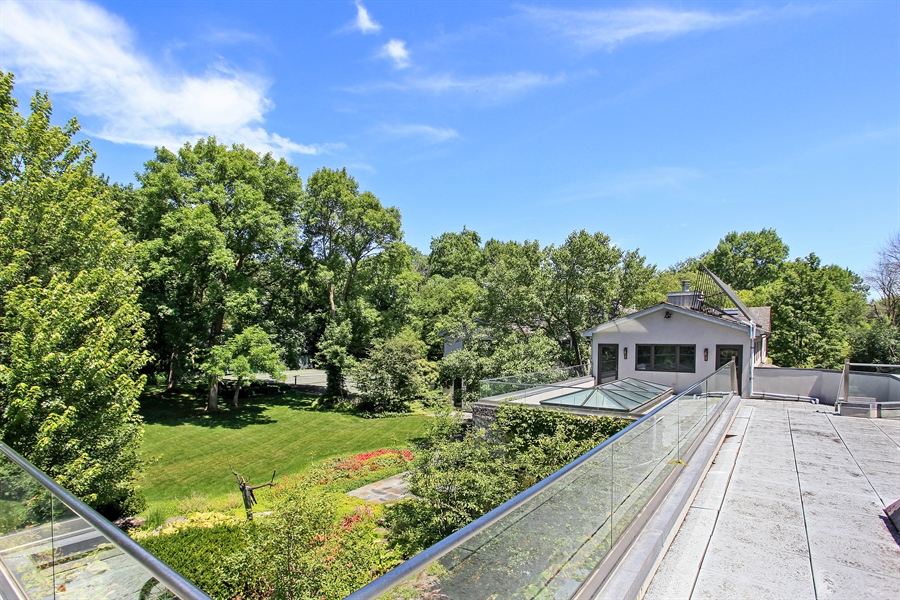 Real Estate Photography - 1780 Happ Rd, Northbrook, IL, 60062 - Roof Deck of the Master Bedroom