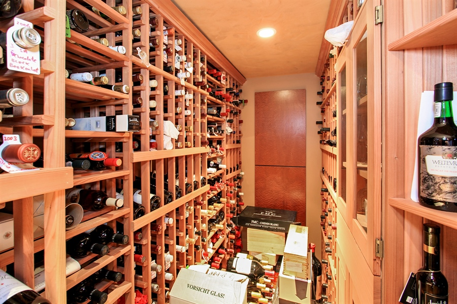 Real Estate Photography - 1780 Happ Rd, Northbrook, IL, 60062 - Wine Cellar