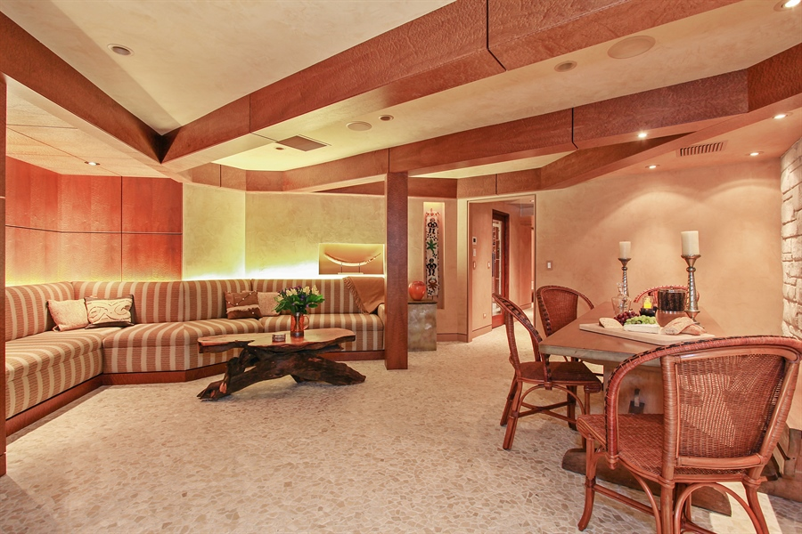 Real Estate Photography - 1780 Happ Rd, Northbrook, IL, 60062 - Lower Level Lounge