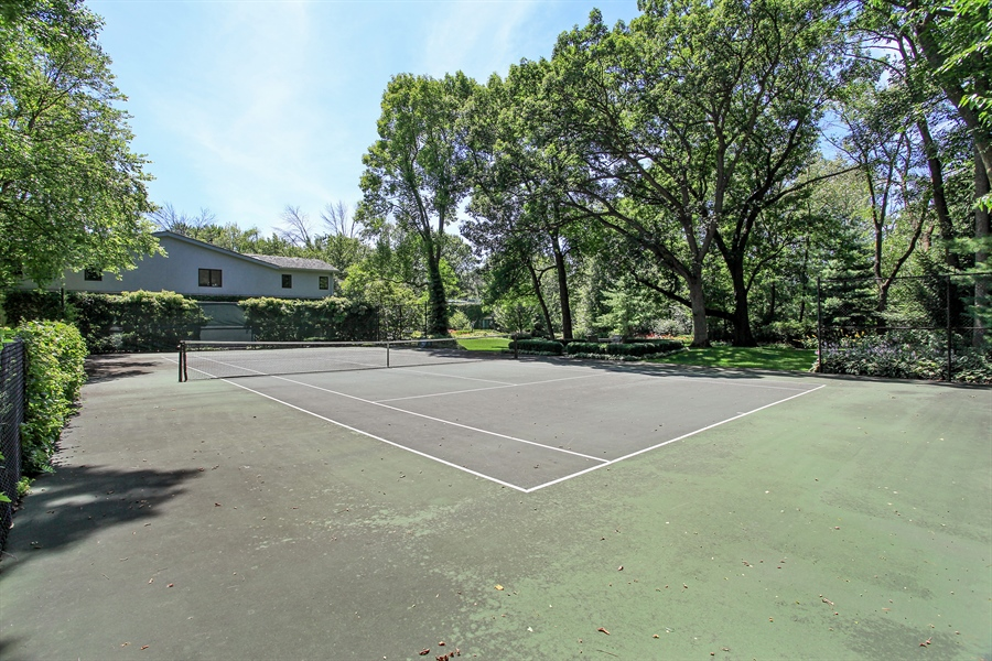 Real Estate Photography - 1780 Happ Rd, Northbrook, IL, 60062 - Tennis Court