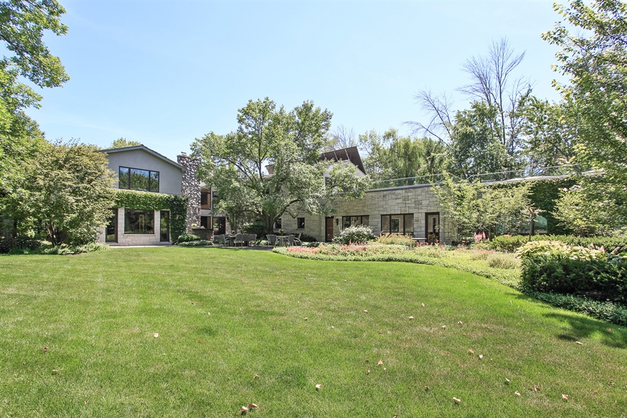 Real Estate Photography - 1780 Happ Rd, Northbrook, IL, 60062 - Rear View