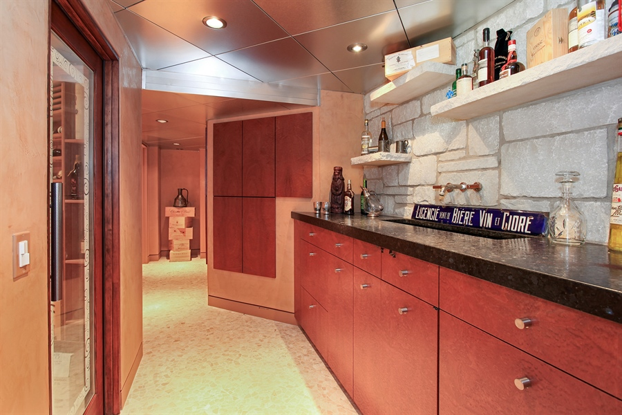 Real Estate Photography - 1780 Happ Rd, Northbrook, IL, 60062 - Wet Bar in the Lower Level