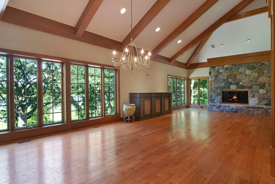 Real Estate Photography - 9 Goose Lake, Barrington Hills, IL, 60010 - Living Room / Dining Room