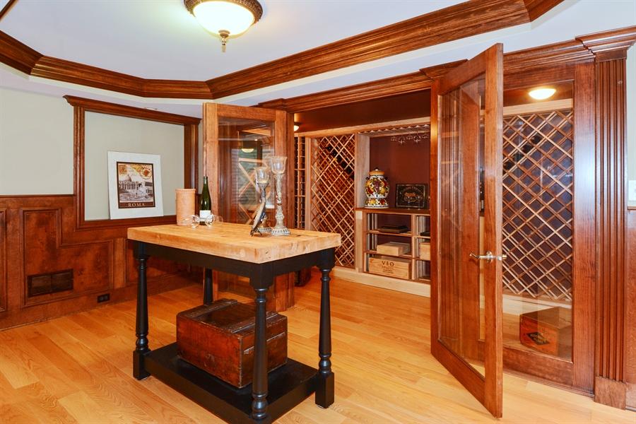 Real Estate Photography - 39W323 Sheldon Lane, Geneva, IL, 60134 - Wine Cellar