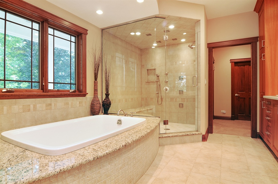 Real Estate Photography - 29567 N Gilmer Rd, Grayslake, IL, 60030 - Master Bathroom