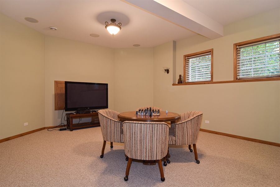 Real Estate Photography - 38W380 Heritage Oak, St Charles, IL, 60175 - Media Room