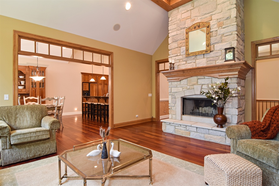 Real Estate Photography - 38W380 Heritage Oak, St Charles, IL, 60175 - Family Room / Kitchen