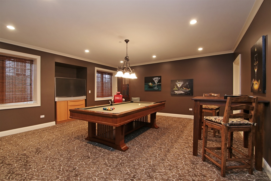 Real Estate Photography - 143 Cary, Highland Park, IL, 60035 - Pool Room
