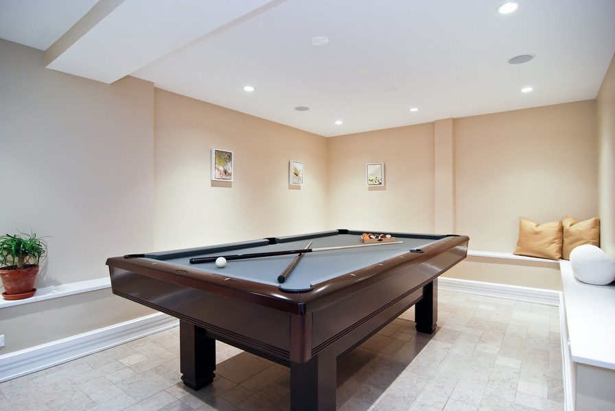 Real Estate Photography - 654 W Hutchinson, Chicago, IL, 60613 - Pool Room