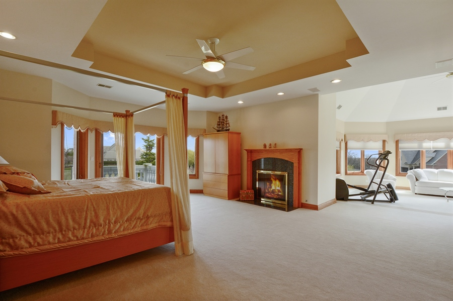 Real Estate Photography - 26 Star Lane, South Barrington, IL, 60010 - Master Bedroom