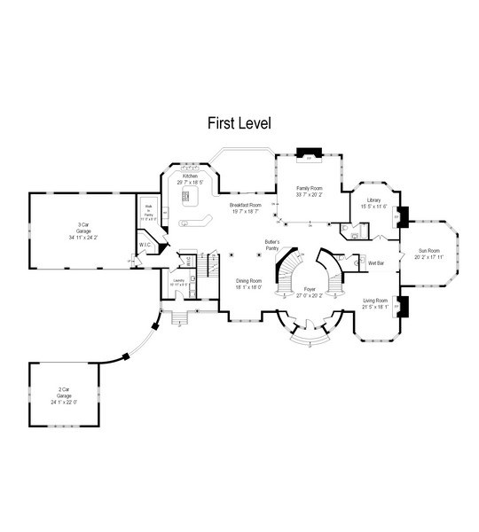 Real Estate Photography - 26 Star Lane, South Barrington, IL, 60010 - Floor Plan