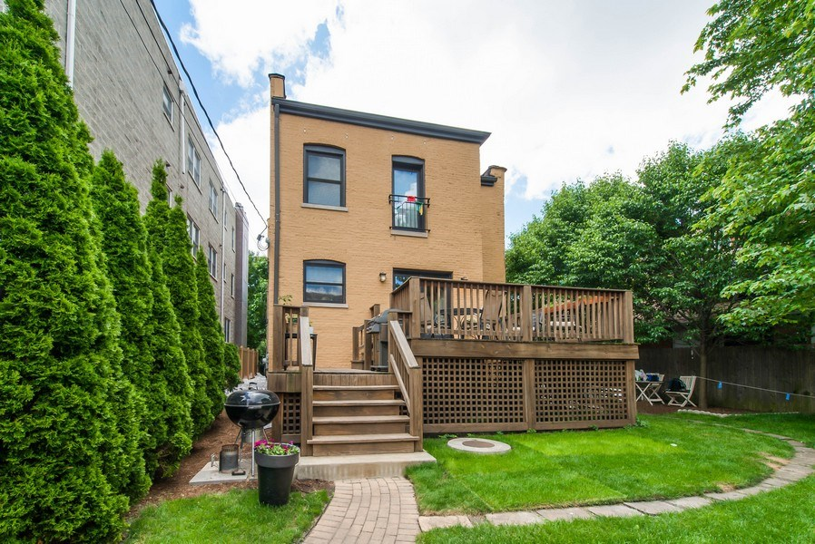 Real Estate Photography - 4722 N Malden St, Chicago, IL, 60640 - Rear View