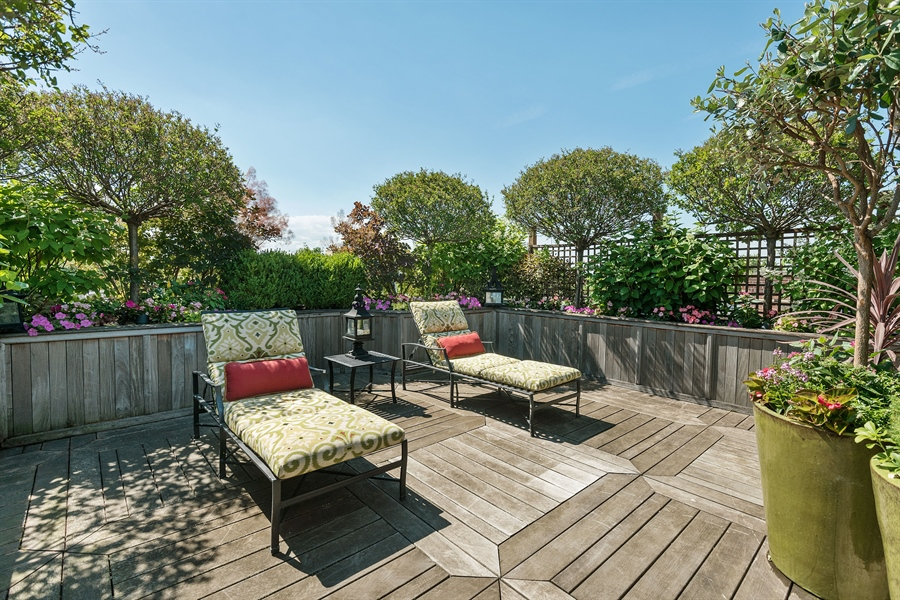 Real Estate Photography - 1841 N Orchard Street, Chicago, IL, 60614 - Roof Deck West Area