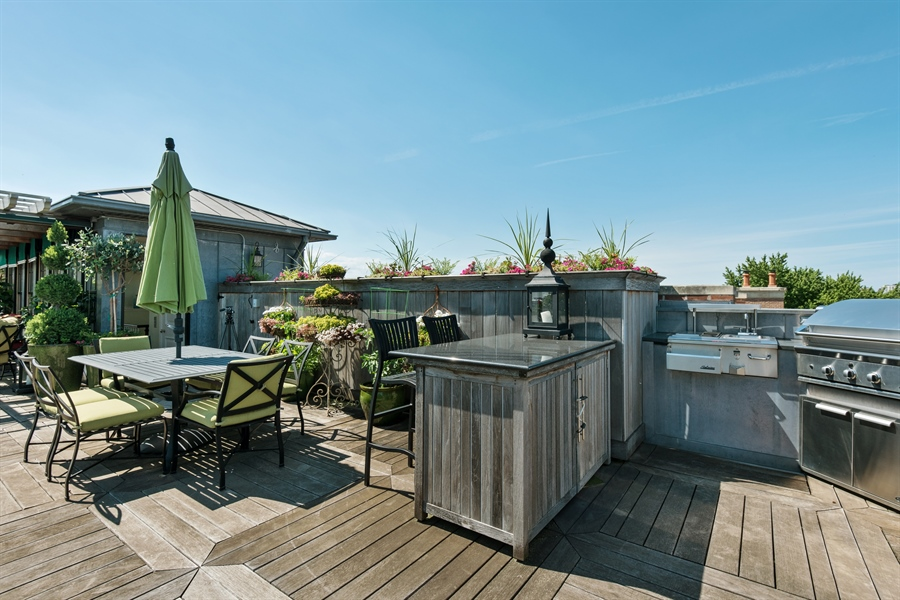 Real Estate Photography - 1841 N Orchard Street, Chicago, IL, 60614 - Roof Deck East Area