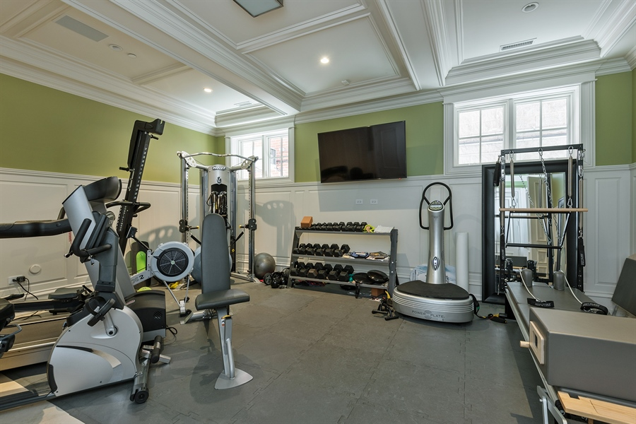 Real Estate Photography - 1841 N Orchard Street, Chicago, IL, 60614 - Gym