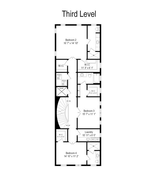 Real Estate Photography - 1841 N Orchard Street, Chicago, IL, 60614 - Floor Plan