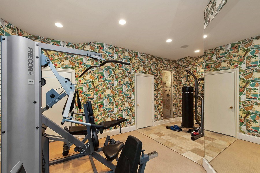 Real Estate Photography - 1215 Whitebridge Hill Ln, Winnetka, IL, 60093 - Exercise Room