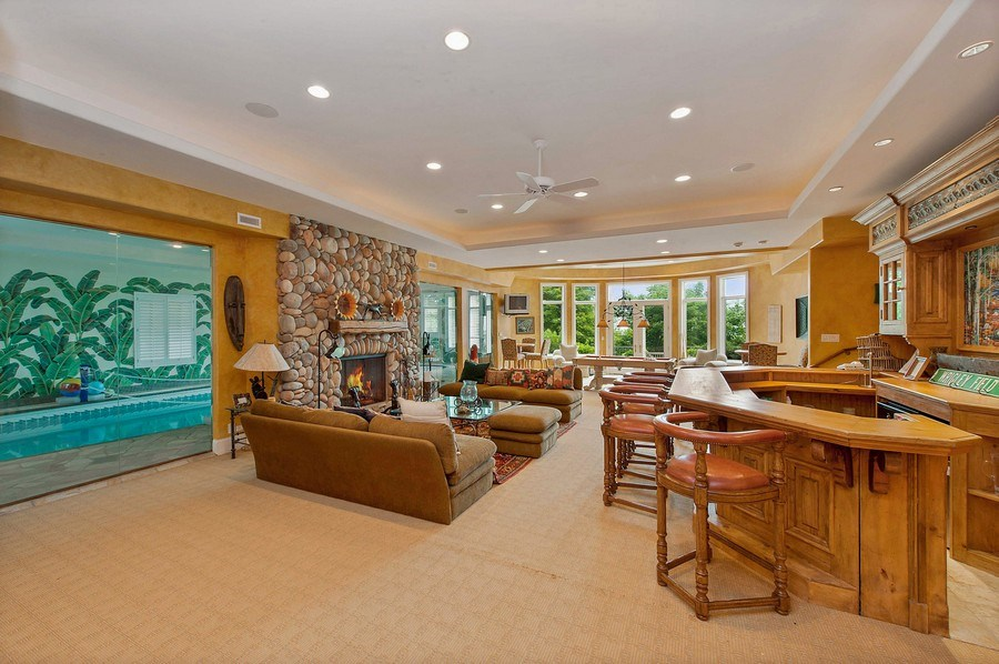 Real Estate Photography - 1215 Whitebridge Hill Ln, Winnetka, IL, 60093 - Recreational Room