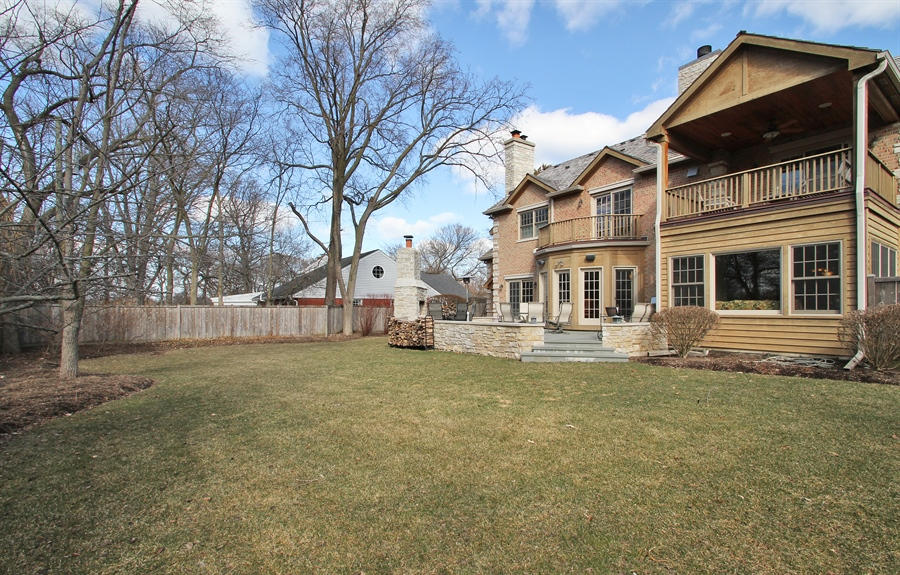 Real Estate Photography - 930 N. Glenayre Dr., Glenview, IL, 60025 - Rear View